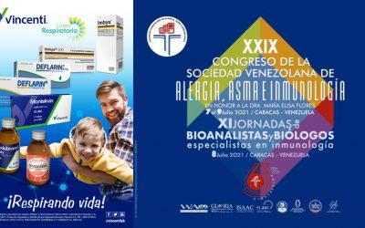Línea respiratoria de Vincenti patrocinó el Congreso de Asma, Alergia e Inmunología